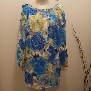 Charter Club Plus Size top Floral blouse Size 2X
